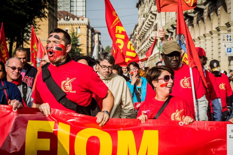 Torino, la manifestazione dei metalmeccanici