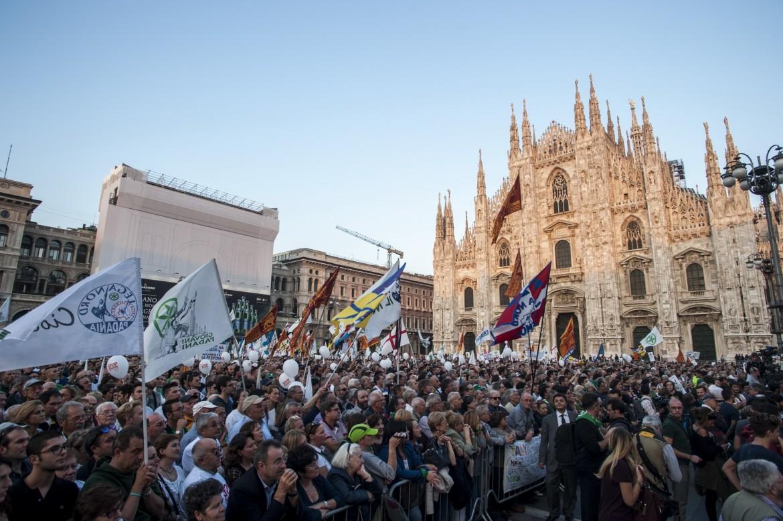 Piazza del Duomo, ieri