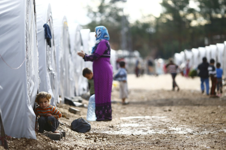 Profughi kurdi di Kobane