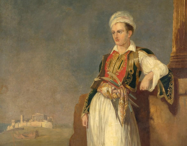 Un ritratto di Lord Byron in Grecia, realizzato da un artista sconosciuto verso il 1930, Atene, Museo Benaki