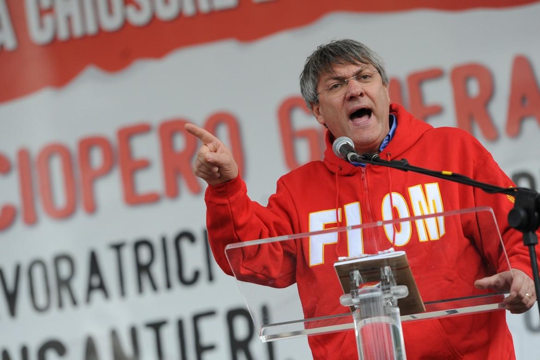 Il segretario della Fiom e leader della coalizione sociale Maurizio Landini