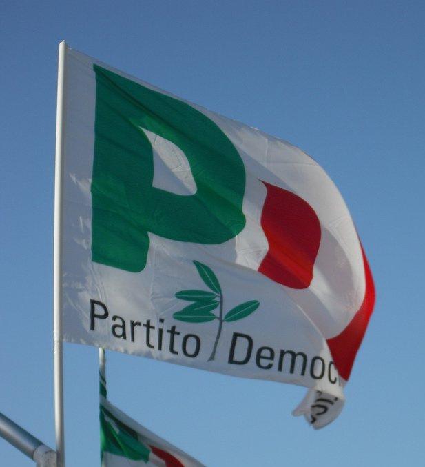 La bandiera del Partito Democratico