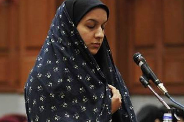 Reyhaneh Jabbari  durante il processo