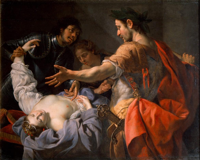 Nerone davanti al corpo di Agrippina (Luca Ferrari. 1630 ca. Galleria estense di Modena)