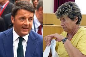 Il premier Matteo Renzi e la segretaria generale della Cgil, Susanna Camusso
