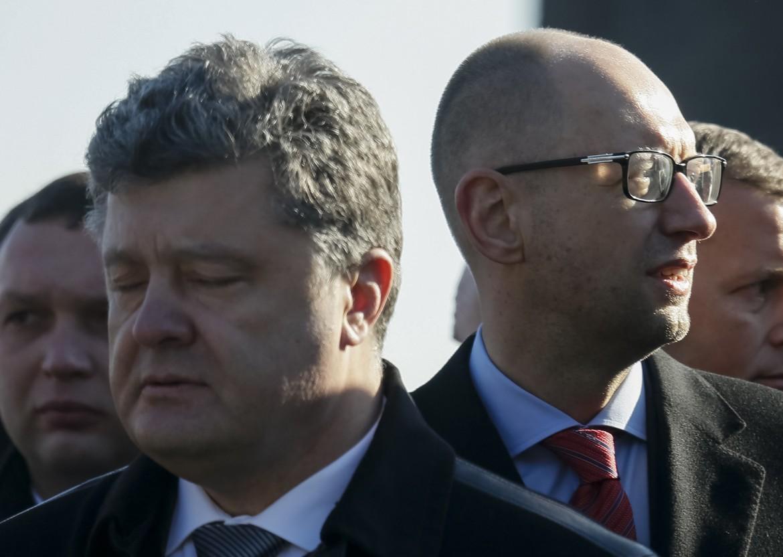 Poroshenko e Yatseniuk
