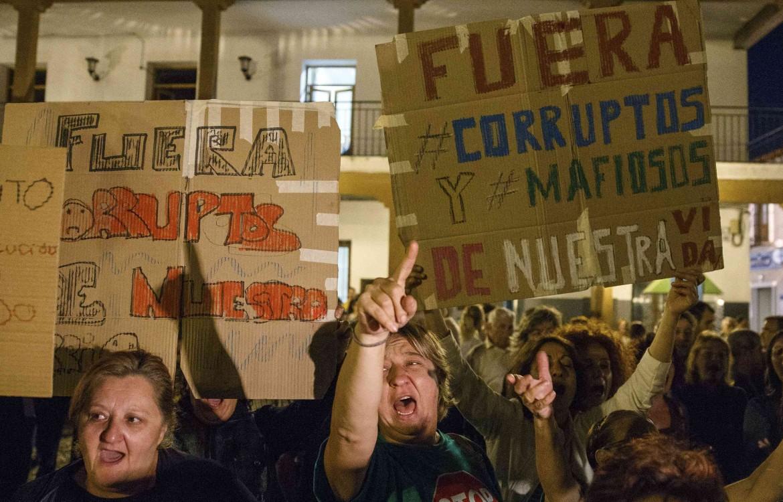Madrid. protesta contro la corruzione