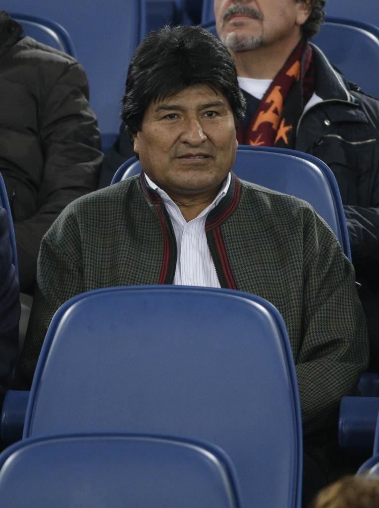 Evo Morales alla partita della Roma