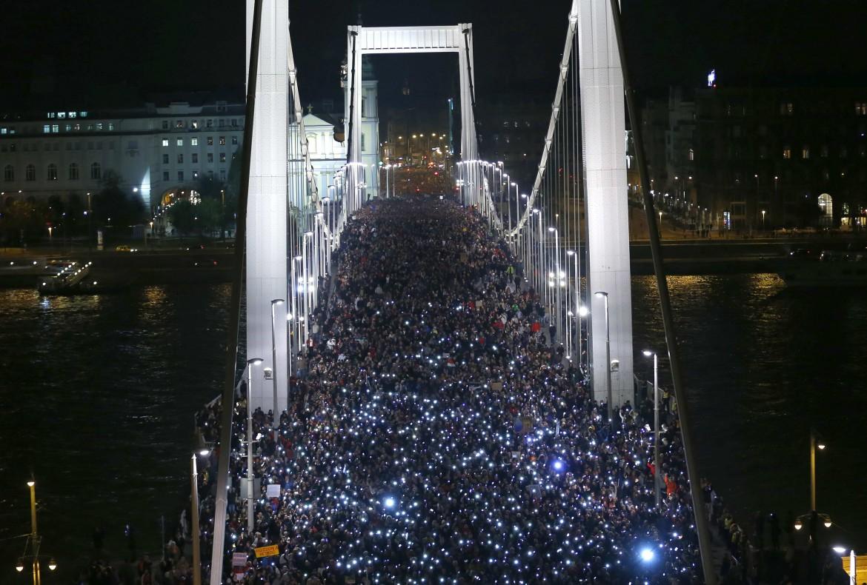 Le proteste in Ungheria