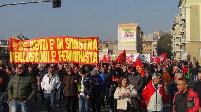 Il corteo del 31 ottobre a Genova