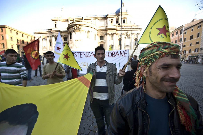 Roma, manifestazione per Kobane