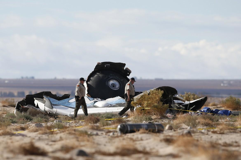 I resti dello Spaceship Two