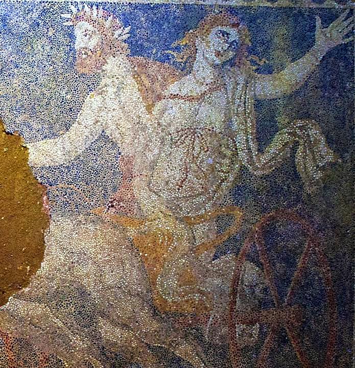 Il mosaico con il Ratto di Persefone