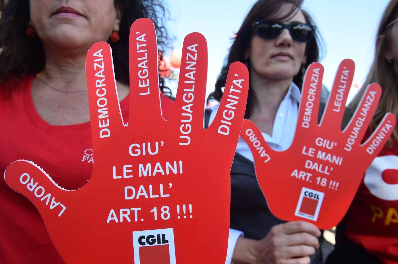 La Cgil in piazza a Roma il 25 ottobre scorso