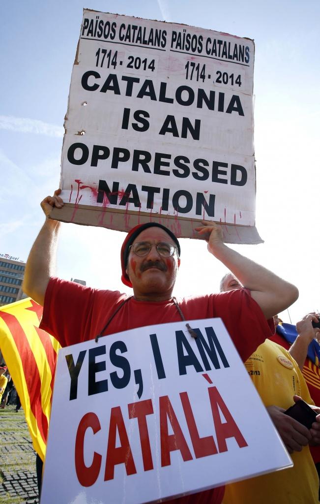 manifestazioni pro indipendenza a Barcellona