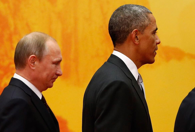 Il presidente russo Putin e il presidente Usa Obama