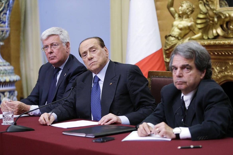 Paolo Romani, Silvio Berlusconi e Renato Brunetta
