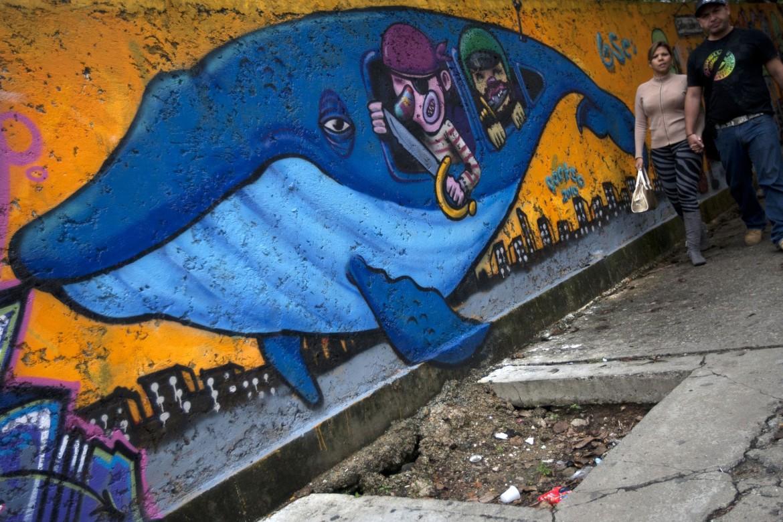 Venezuela, murale ambientalista