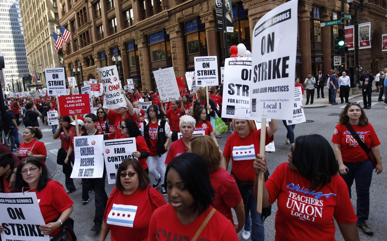 Chicago, lo sciopero degli insegnanti del settembre 2012