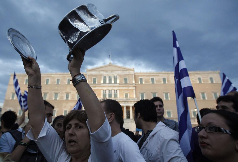 Manifestazione ad Atene contro i tagli