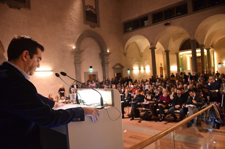 Firenze, Alexis Tsipras interviene all'auditorium di Sant'Apollonia