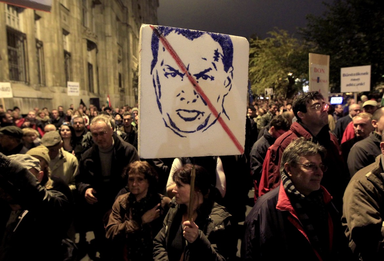La manifestazione di lunedì scorso a Budapest