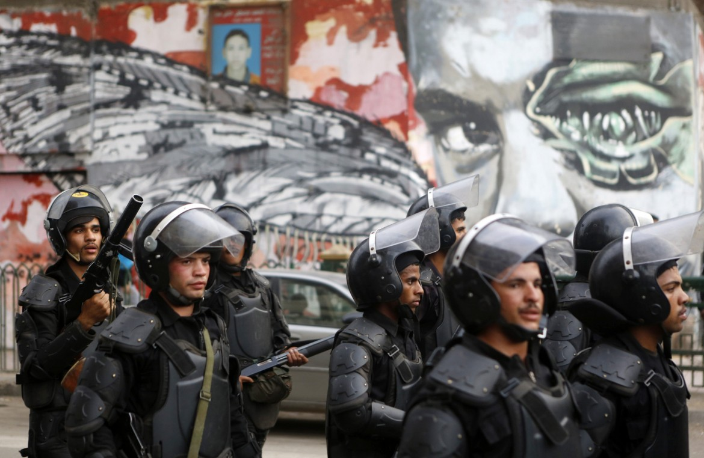 Mohamed Mahmoud Street al Cairo ieri