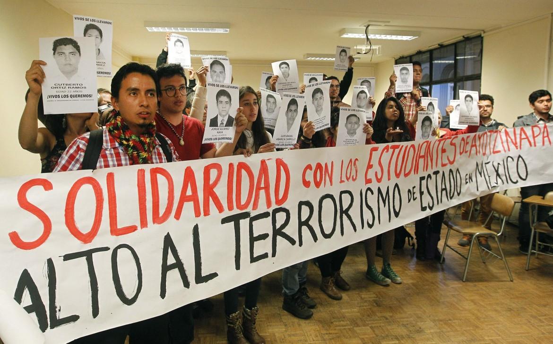La manifestazione di ieri a Mexico City