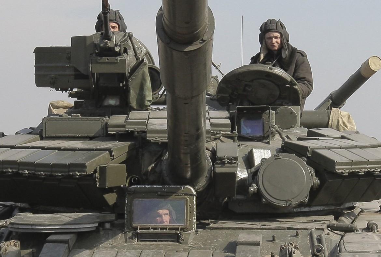 Un tank dell'esercito ucraino