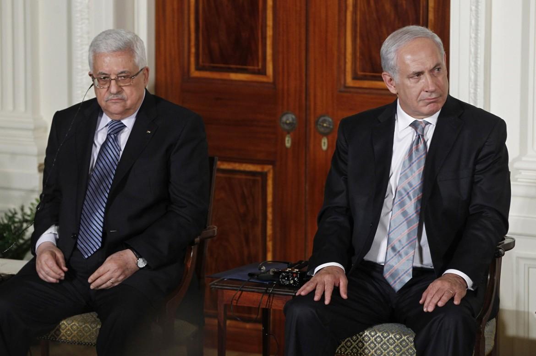 Il presidente palestinese Abu Mazen e il premier israeliano Netanyahu