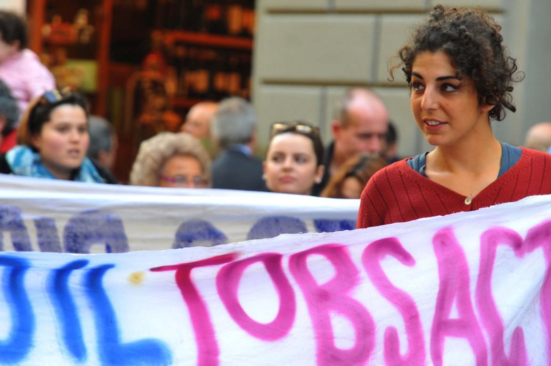 Una manifestazione contro il Jobs act