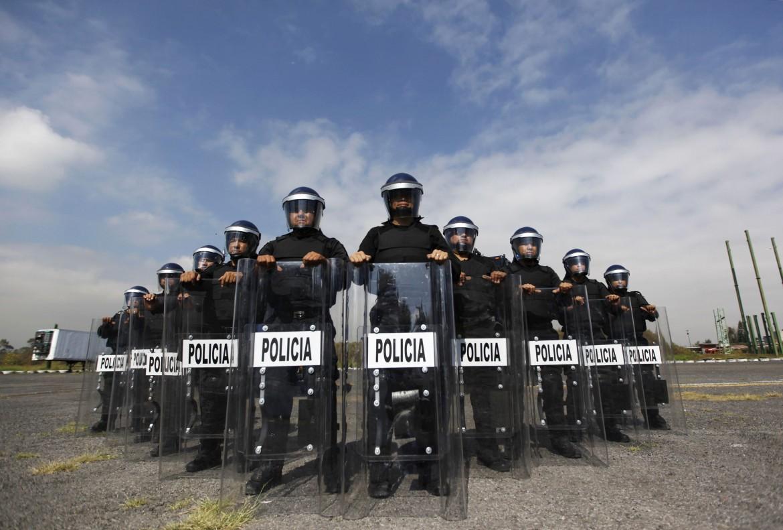 Messico, schieramento di polizia