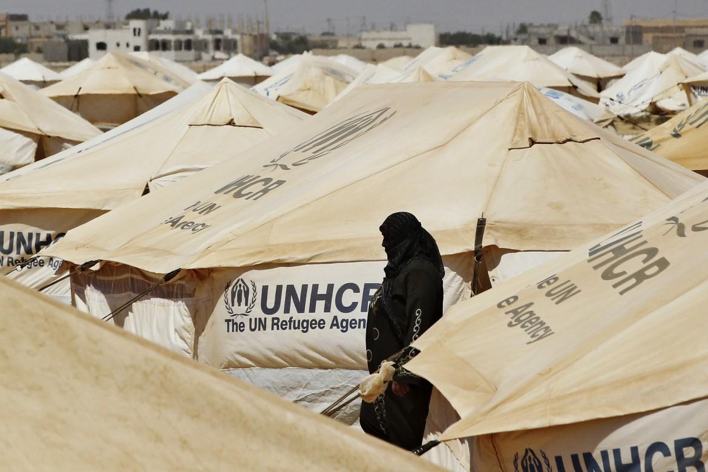 Un campo profughi gestito dall'Unhcr
