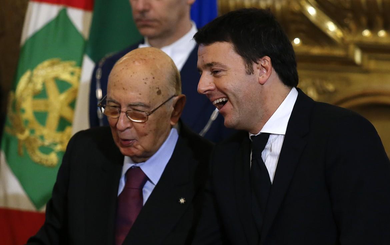Giorgio Napolitano e Matteo Renzi