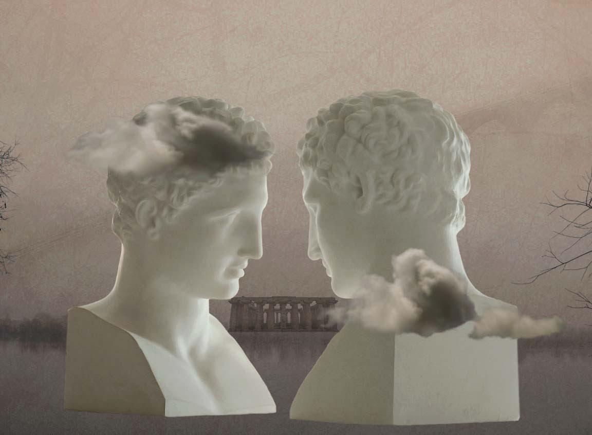 Un'opera di Nico Vigenti, omaggio a Paolini.