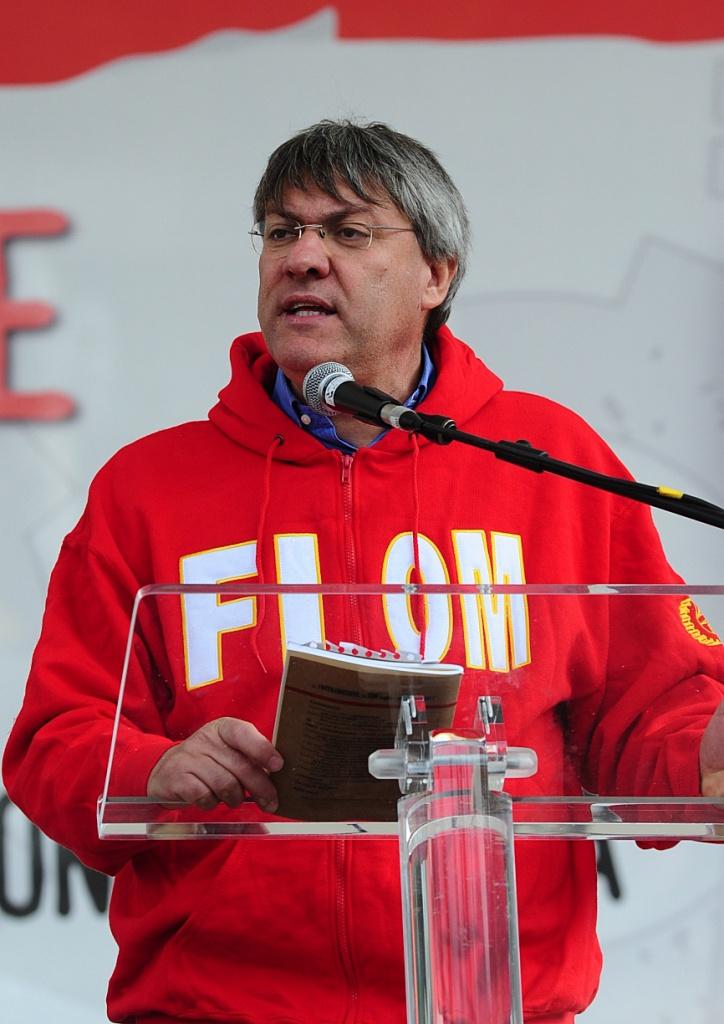 Il segretario generale della Fiom Cgil, Maurizio Landini