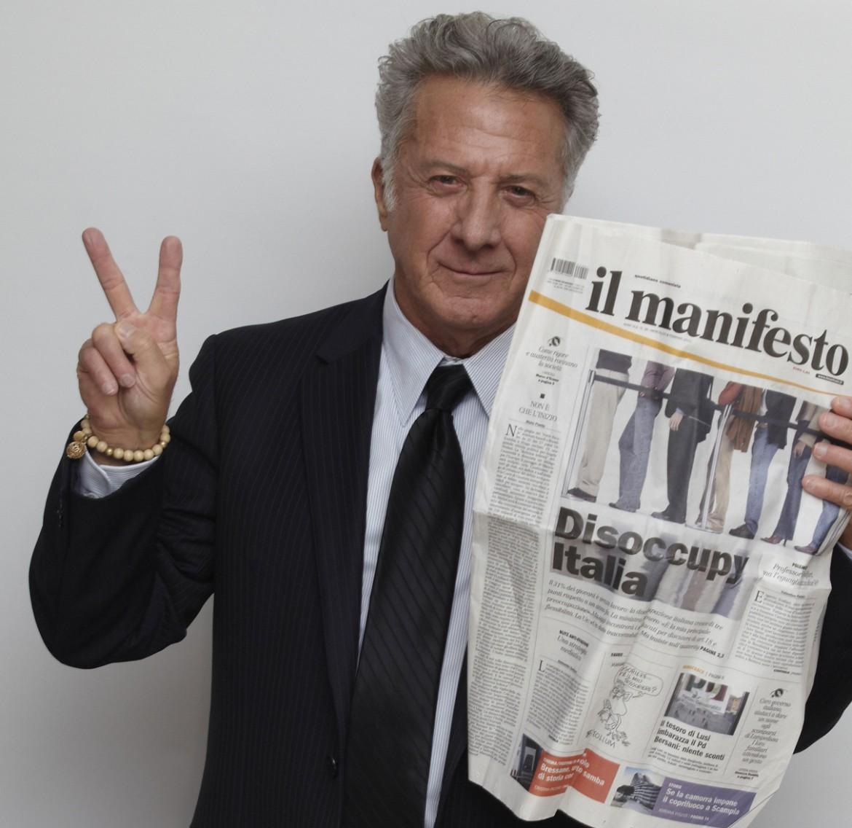 Dustin Hoffman per il manifesto, Los Angeles 2012