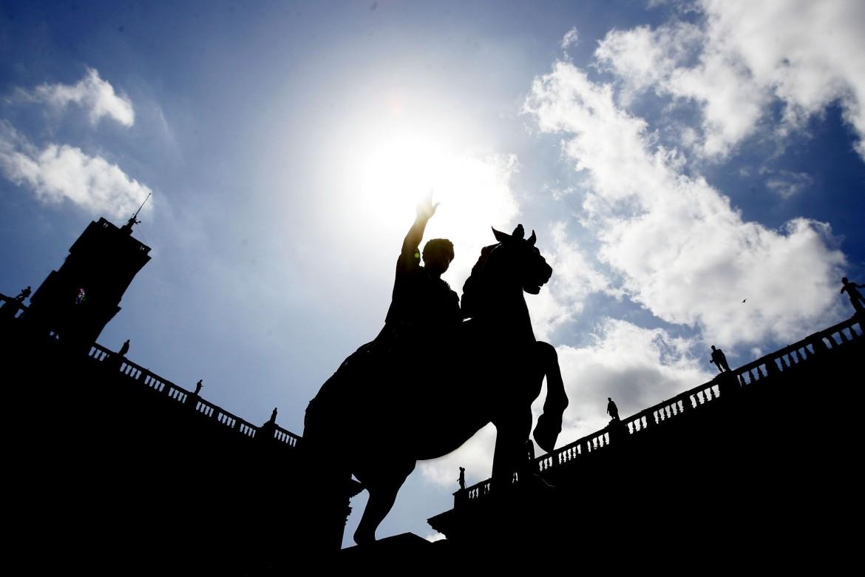 La statua del Marco Aurelio in Campidoglio