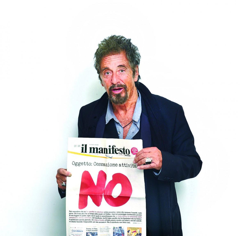 Al Pacino per il manifesto, Los Angeles 2014