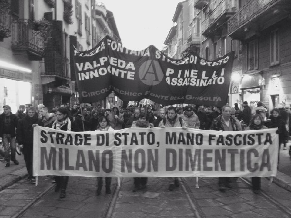 Manifestazione a Milano, 13 dicembre 2014