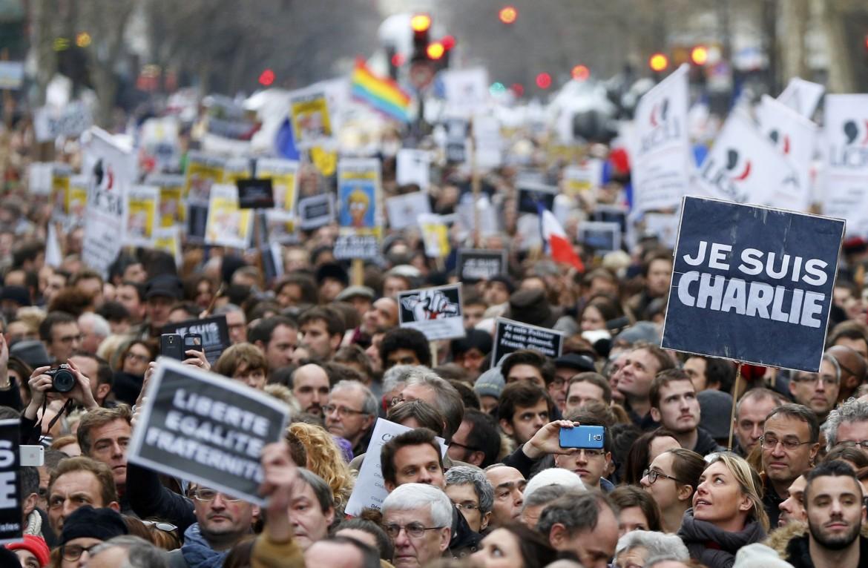 La marcia parigina per Charlie Hebdo