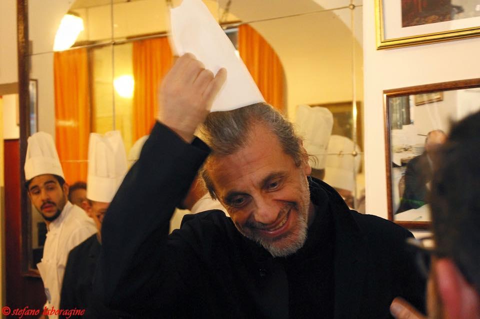 Alessandro Bergonzoni al Ristorante Diana di Bologna (foto di Stefano Laboragine)