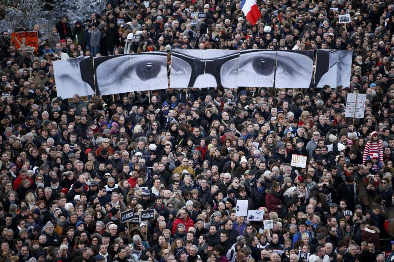 La manifestazione per Charlie Hebdo di Parigi