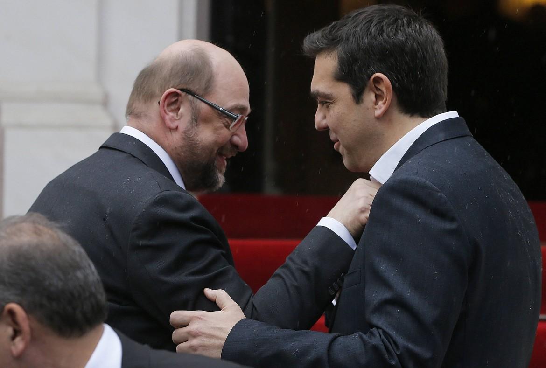 Schulz e Tsipras ad Atene