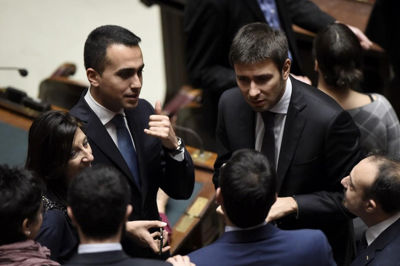 Il vicepresidente della Camera Luigi Di Maio e il deputato Alessandro Di Battista