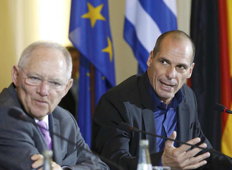 Schauble e Varoufakis