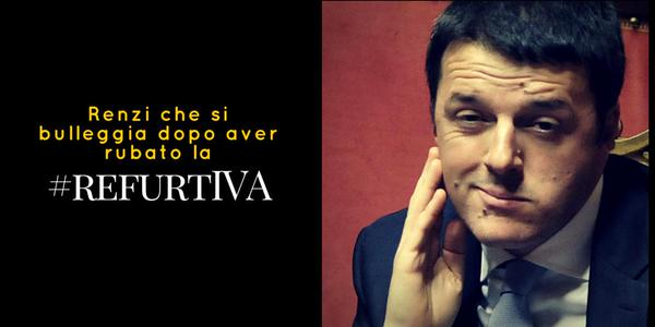 "Un'immagine dal tweetstorm ""#RefurtIVA"" Foto di MaxVincio"