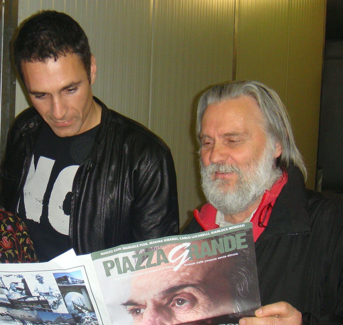 Raou Bova in Piazza Grande con Roberto