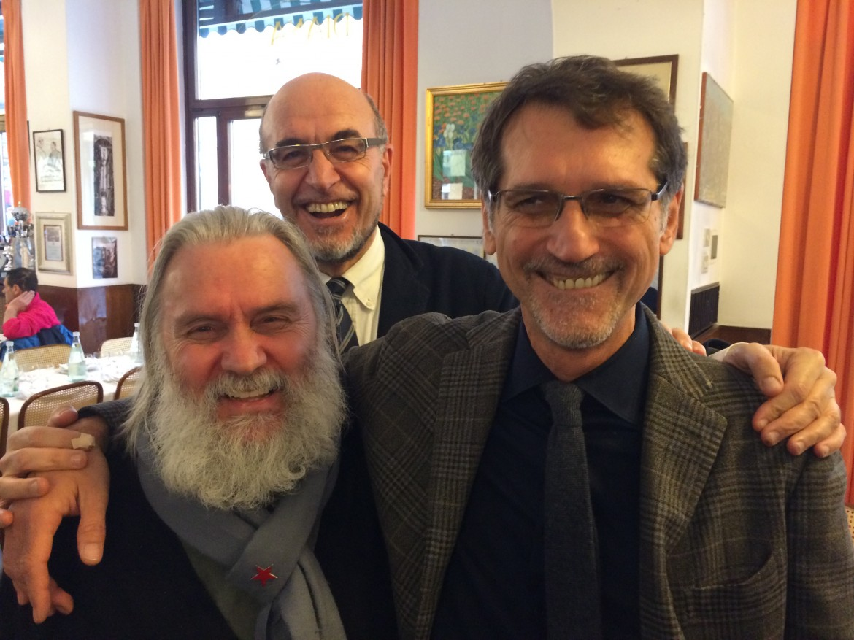 Roberto Morgantini con Virginio Merola. Una volta tanto facce sorridenti!