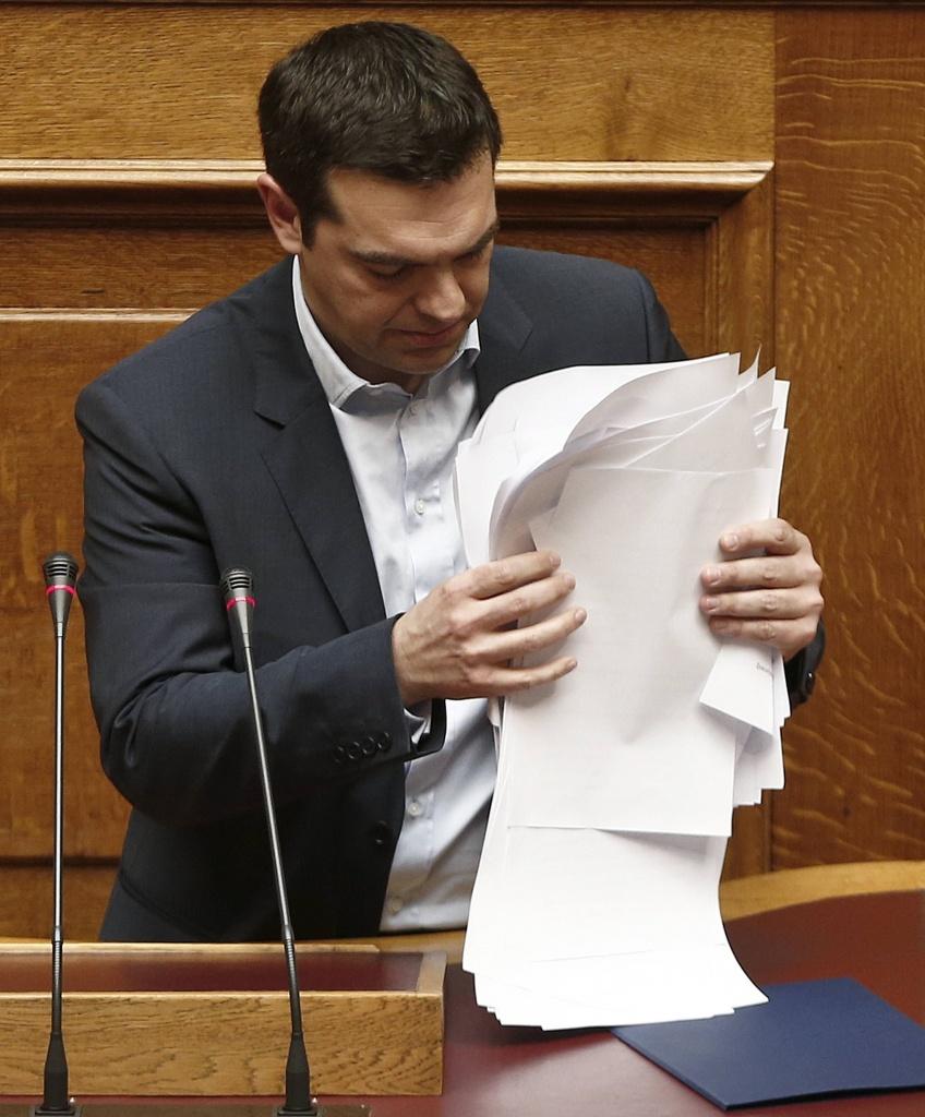 Alexis Tsipras in parlamento
